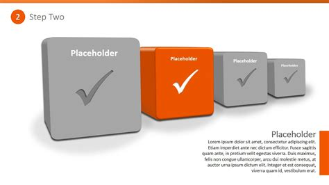 powerpoint themes greyed out 4 steps 3d checkbox powerpoint template slidemodel