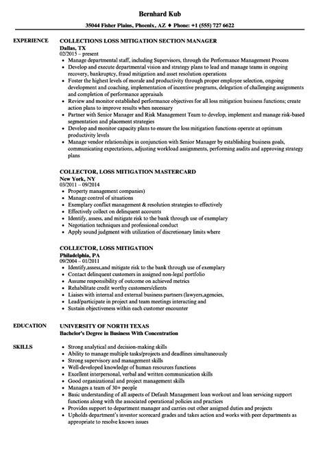 Loss Mitigation Resume Summary by Loss Mitigation Specialist Sle Resume Loss Mitigation
