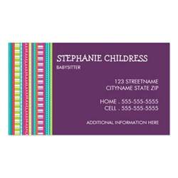 babysitting business card colorful stripes babysitting business card zazzle
