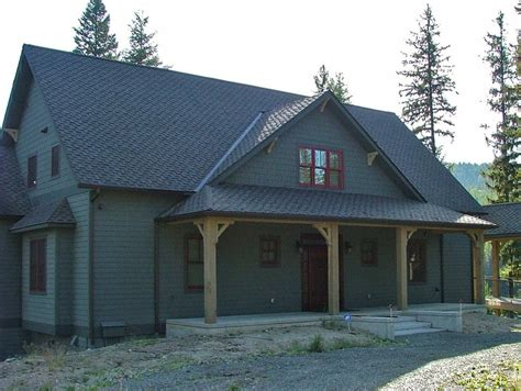 rustic vacation home cabin lodge house plan alp