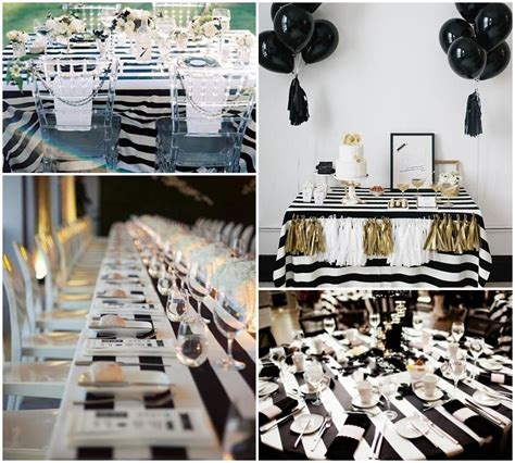 and white table decorations black and white table decorations ideas