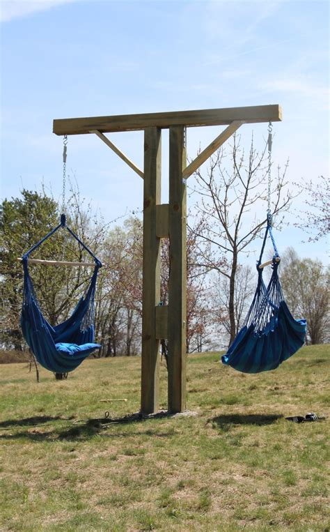 how to make a swing stand diy hammock chair stand gardenagerie pinterest