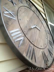 Sunburst Blinds Pottery Barn Knock Off Clock My Love 2 Create