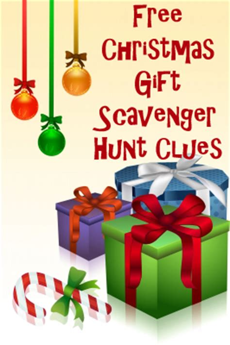 christmas scavenger hunt riddles free clues that rhyme