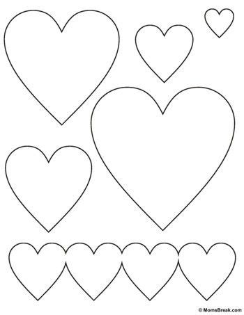 printable stencils of hearts free heart stencil printable sewing class pinterest