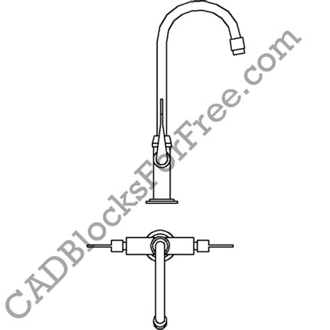 Faucet Cad Block by Kitchen Sink Tap Faucet Cad Blocks For Free