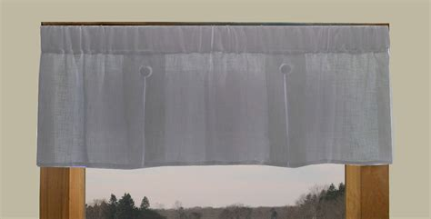 button curtains pleated button valance shannon semi sheer linen blend