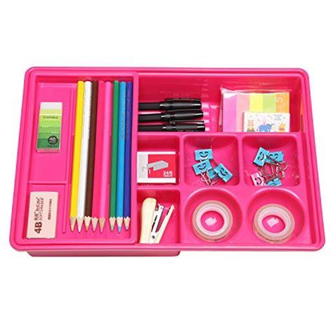 pink desk drawer organizer hot pink multi compartment office desk drawer plastic