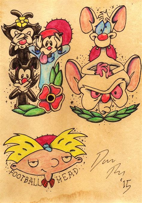 90s cartoon tattoos 55 best flash images on flash