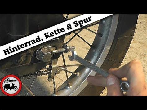 Motorrad Kette Montieren by Simson Grundlagen 7 Hinterrad Montieren Kette Spannen