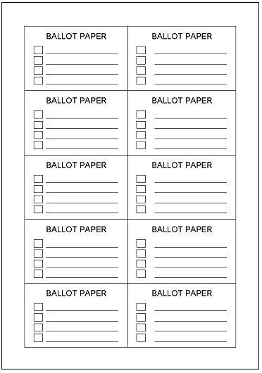 voting slips template printable raffle ticket templates free ballot template