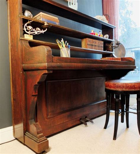 converted upright piano desk astley house interiors