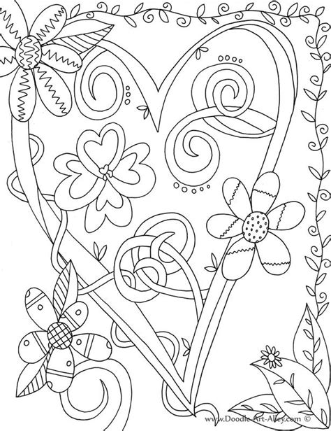 heart doodle coloring page heart doodle art pages coloring pages