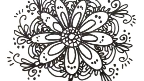 flower pattern to draw how to draw cool designs draw flower designs youtube