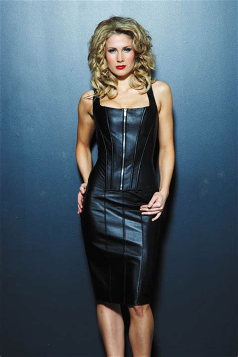 the executive leather pencil skirt leather