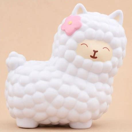 Squishy Jumbo vlo jumbo big white alpaca squishy kawaii