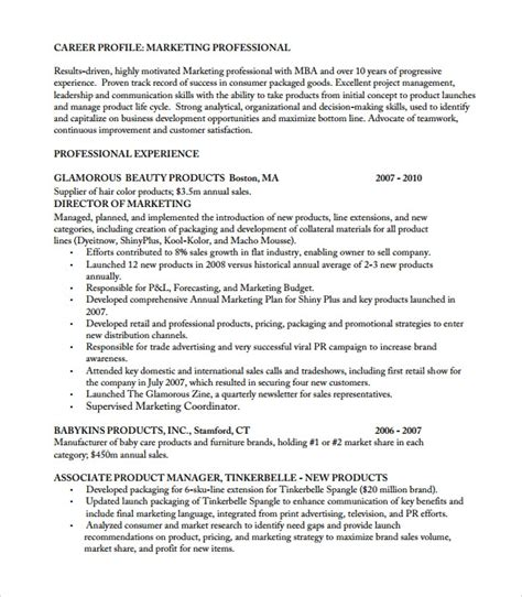 8 Product Manager Resume Templates To Download For Free Sle Templates Product Manager Resume Template