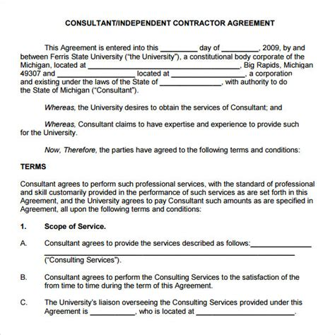 consultation agreement template retainer agreement 7 free pdf doc