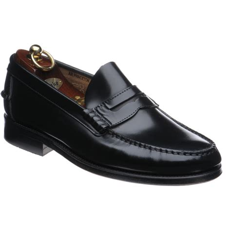 loake loafer loake shoes loake lifestyle princeton loafer in black