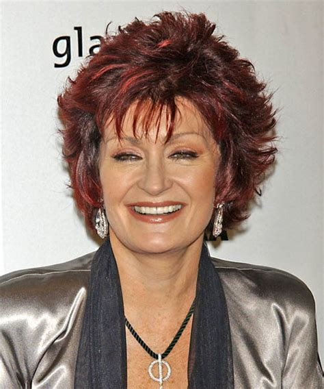 back view of sharob osbournes hair sharon osbourne medium straight formal hairstyle with