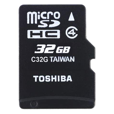 Toshiba Micro Sd 32gb Memory Sd Card Murah toshiba microsdhc class 4 10mb s 32gb sd c32gr7w4