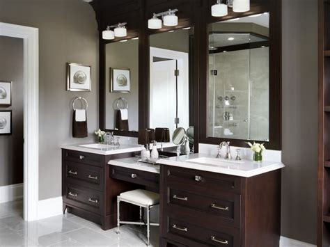 Vanities with makeup area custom bathroom vanities with makeup area