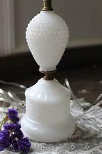 Glass Bird Vase Vintage Milk Glass Table Lamp Hobnail By Southernvintagega