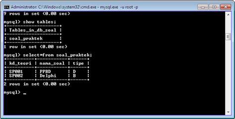 membuat database dari cmd membuat database dengan command prompt zona info