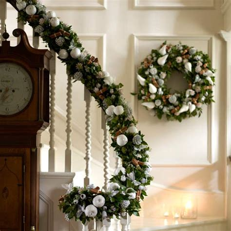 banister decor 100 awesome christmas stairs decoration ideas digsdigs