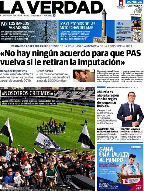 diario la verdad periodico la verdad cartagena 14 5 2017
