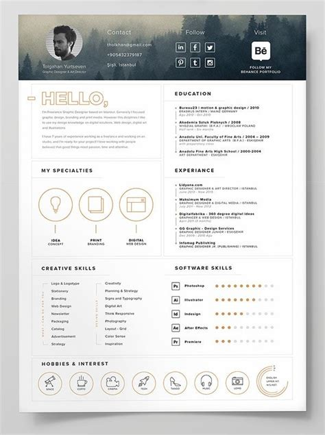 10 best free resume cv templates in ai indesign psd business infographic 10 best free resume cv templates