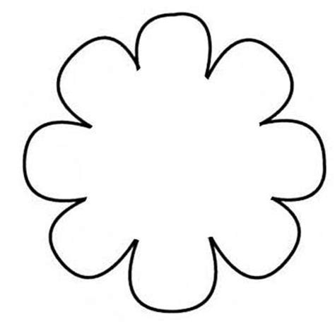 flower pattern clipart flower templates for kids cliparts co