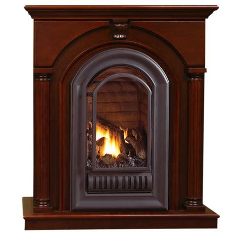 Btu Fireplace by Hearthsense Gas Ventless Gas Fireplace 20 000 Btu Cherry Finish Factory Buys Direct