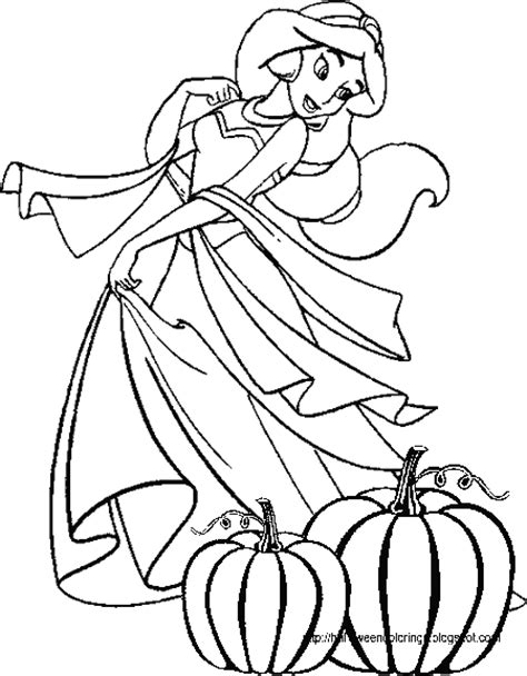 disney princess halloween coloring page disney coloring pages