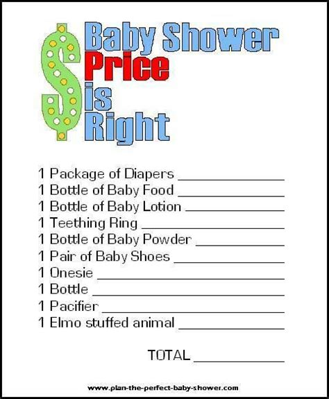 free templates for baby shower games price is right printable shower game and 13 more crafty