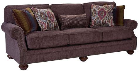 chenille fabric sofa heuer walnut chenille fabric sofa 4260 3q 4243 85 broyhill