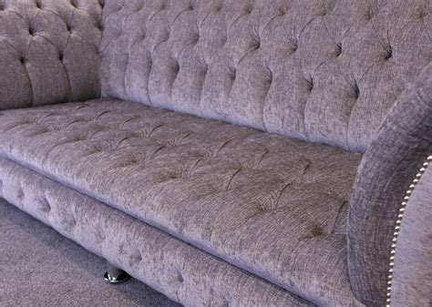 Warwick Upholstery The Suffolk Chesterfield Sofa In Chenille