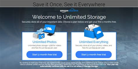 amazon unlimited storage unlimited cloud storage now available with amazon cloud drive