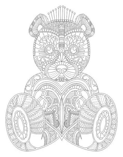 bear mandala coloring pages teddy bear abstract doodle zentangle coloring pages