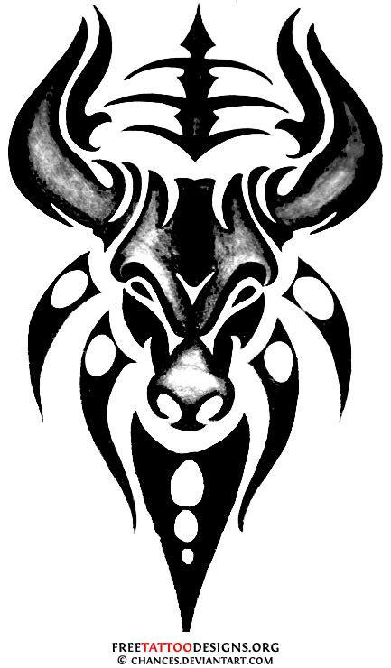 tribal bull tattoo designs bull 50 taurus tattoos