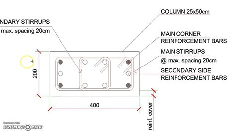 section of column rectangular reinforced concrete column section details