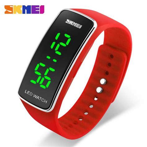 Jam Tangan Sport Cowok Keren Original Digital Digotec Bandung Termurah jual jam tangan pria skmei digital sport rubber led original 1119 merah