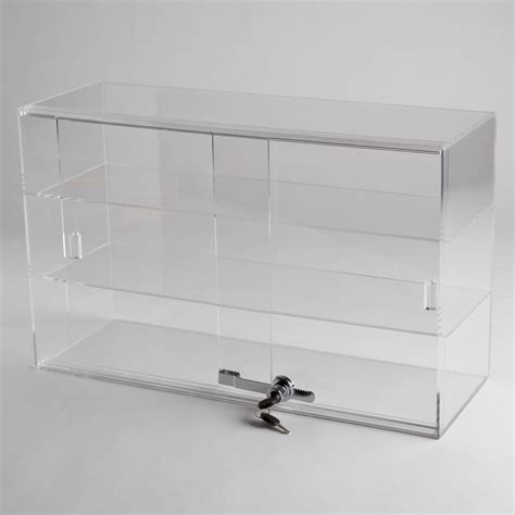 acrylic 2 shelf counter top display a b store fixtures