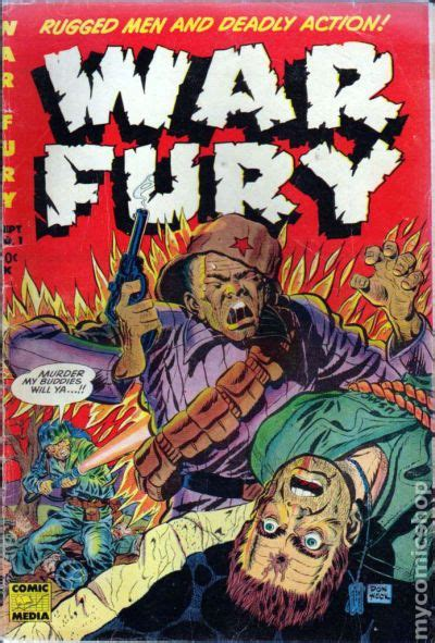 Comic Books In Wars X war fury 1952 comic books