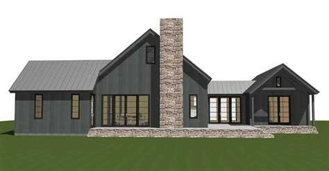 contemporary barn home plan the