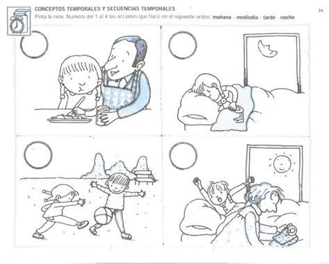 imagenes de relaciones temporales actividad para ni 241 os sobre conceptos temporales