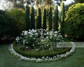 Designing Front Yard Landscape - entry rose garden with statue traditional landscape los angeles by lenkin design inc