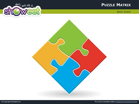 Matrix With Jigsaw Puzzle Pieces For Powerpoint Ppt Puzzle