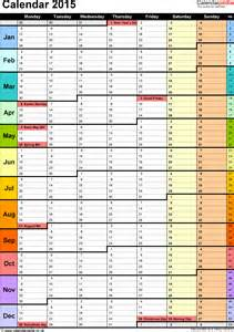 Year Calendar Template Excel by Excel Calendar 2015 Uk 16 Printable Templates Xls Xlsx