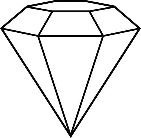 diamond line art free clip art